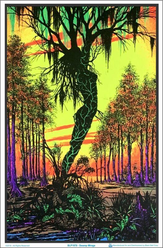 Swamp Mirage Blacklight Poster 23 x 35
