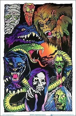 Nightmare Creatures Blacklight Poster - Flocked - 23