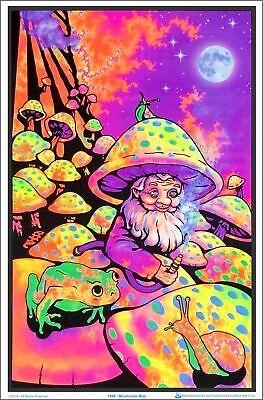 Mushroom Man Blacklight Poster 23 x 35
