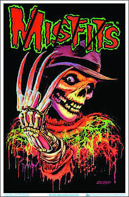 "Misfits Nightmare Fiend Blacklight Poster - Flocked - 23"" x 35"""