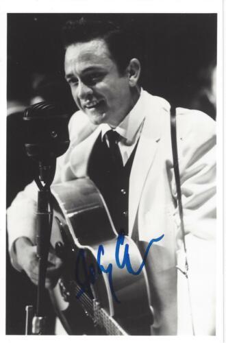 JOHNNY CASH Signed Autograph Photo 4.5x7 Photo JSA LOA