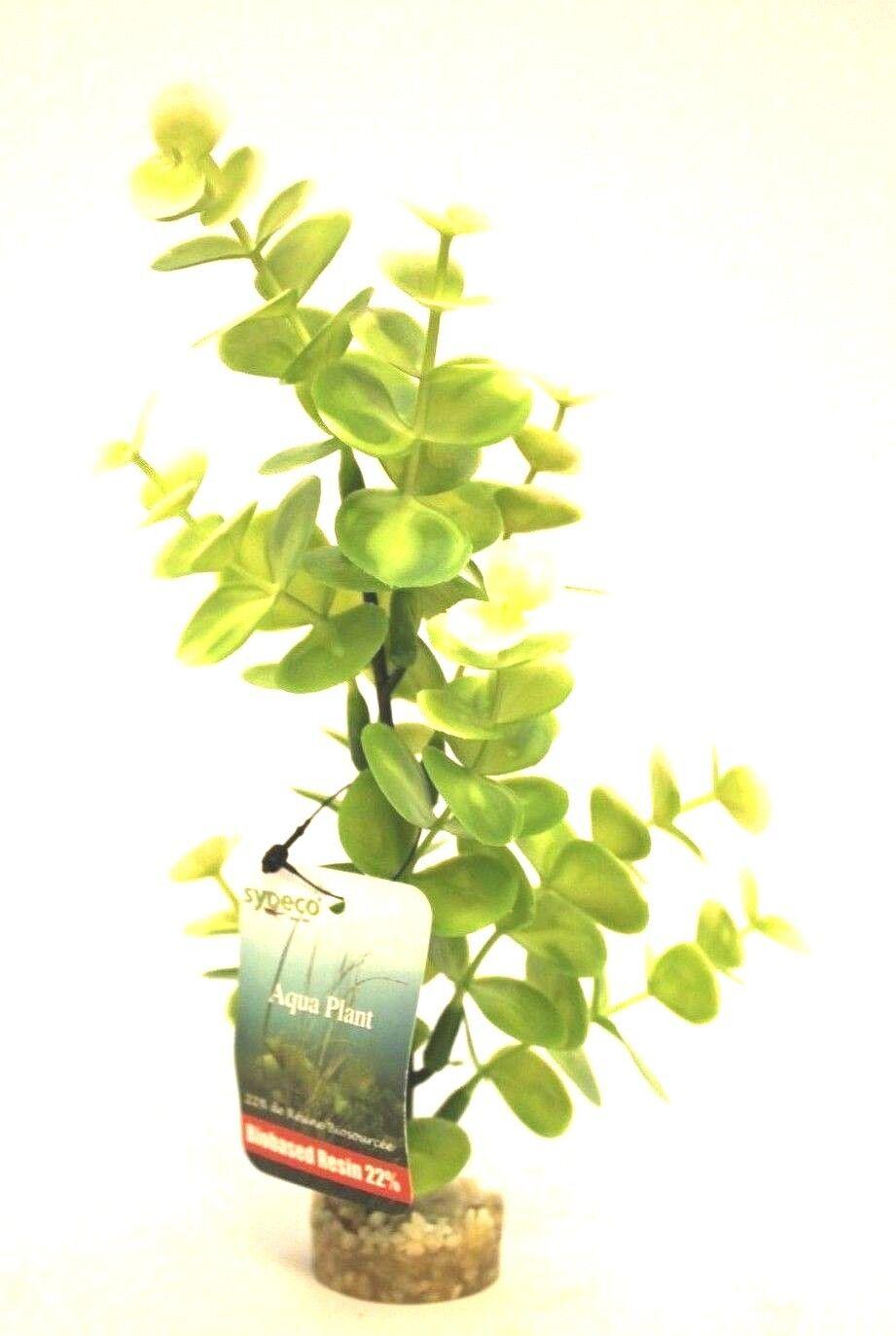 Wasserpflanze Plastik Aquarium Kunststoff Höhe 23 cm Kies Fußunterteil Plant