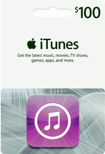 iTunes Gift Card $100 US USD Apple | App Store Key Code | American USA | iPhone