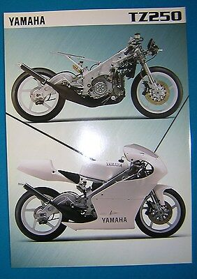 Yamaha TZ250 1996 Specification Sheet. Printed by Yamaha UK. New,