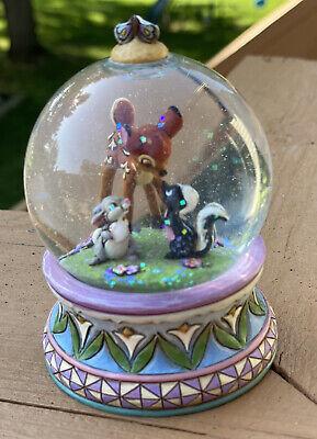 Walt Disney Showcase Collection Snow globe snowglobe Bambi Thumper #4015347