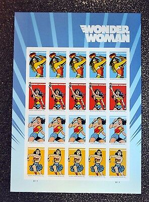 2016USA #5149-5152 Forever - Wonder Woman - Mint Sheet of 20  comic  postage