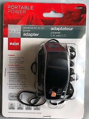 Rca 300ma Universal Ac To Dc Adjustable Voltage Power Supply Adapterb1.339