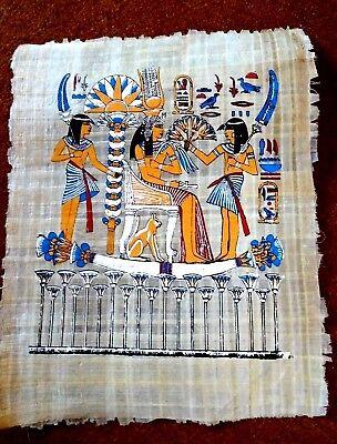 Ägypten  Papyrus-Bild 30 x 42 Geschenke für die Göttin Isis