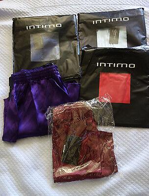 INTIMO MEN'S SILK MULTI-COLOR  BOXERS SIZE S,M, L, (Intimo Silk Boxers)