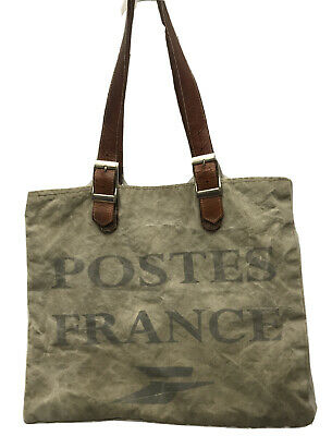 1920s Style Purses, Flapper Bags, Handbags 1920s French Postes France Postal Burlap Canvas Postal Bag Mail Delivery Tote $121.80 AT vintagedancer.com