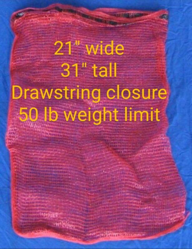 "Quantity of 25 21""x31"" Mesh Bag w drawstring firewood onion produce corn bags"