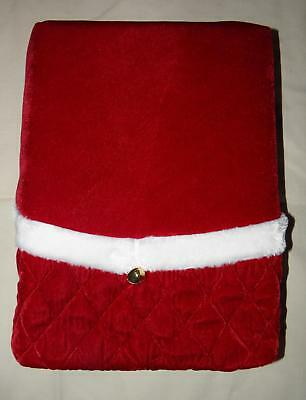 """Christmas Tree Skirt Red With Gold Jingle Bells 48"""" New"""