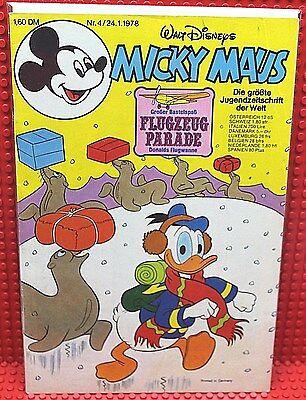 Walt Disney® Micky Maus Nr 4 von 1978 mit Schnipp und Beilage