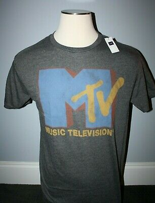 NEW Gap MTV Gray T-Shirt, Short Sleeve, XS, S, L