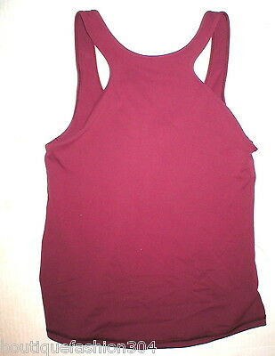 Womens Lululemon Tank Top Hot Yoga 10 Pilates NWT New Dark Red Workout Front Rac