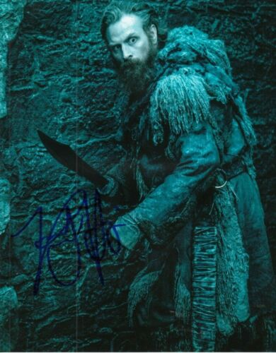 KRISTOFER HIVJU signed (GAME OF THRONES) 8X10 *Tormund Giantsbane* W/COA GOT#4