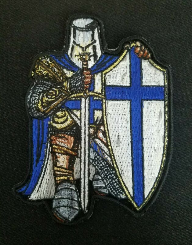 Armor of God Crusader Spartan Law Enforcement Police EMT Firefighter Patch Blue