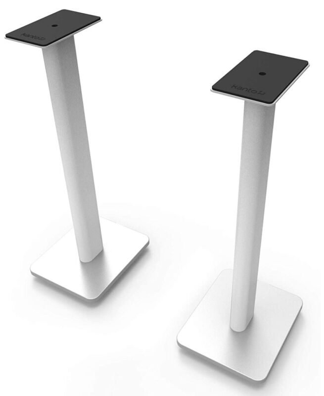 "READ** Kanto SP26 WH 26"" Speaker Floor Stands (White) Rotating"