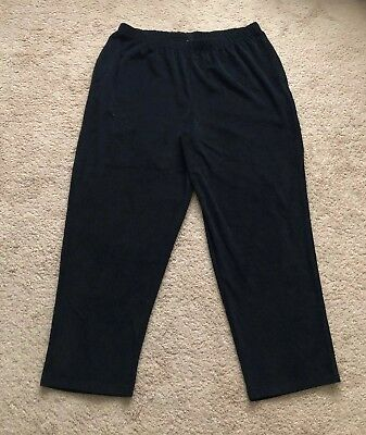 CW Classics Women's Velvet Cord Sweat Pant Plus Size 2X Black New ()