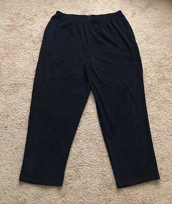 CW Classics Women's Velvet Cord Sweat Pant Plus Size 2X Black New ()