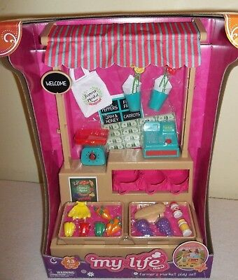 "NEW MY LIFE 18"" DOLL FARMER'S MARKET 43 pc  PLAY SET"