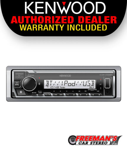Kenwood KMR-M328BT Marine Media Receiver w/ Bluetooth & Alexa, Does Not Play CDs