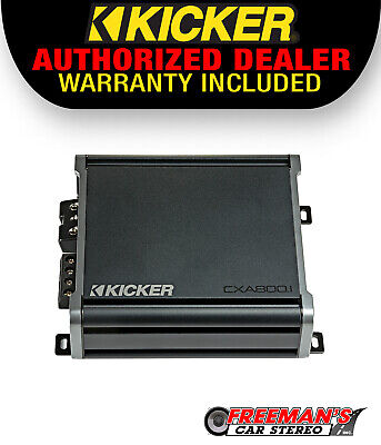 Kicker 46CXA8001 Car Audio Class D Amp Mono 1600W Peak Power Sub Forstærker