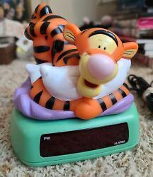 Tigger Alarm Clock Night Light With Battery Backup Winnie the Pooh