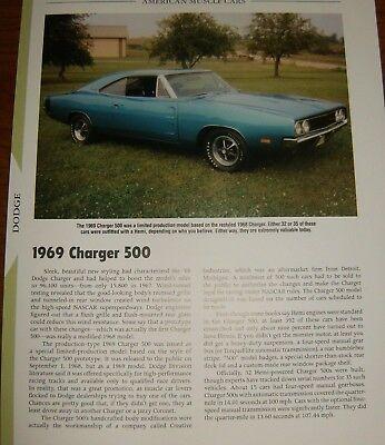 ★★1969 DODGE CHARGER 500 SPECS INFO PHOTO 69 440 HEMI 68★★