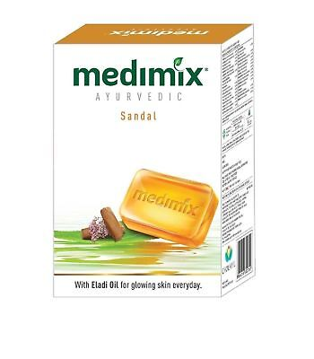 5 Pcs of 125gm Medimix Ayurvedic Sandal Soap Herbal Bath Soap