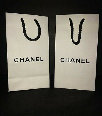 Black And White Gift Bags (Chanel (2) Black and White Paper Gift Shopping Bags With Rope Handles Lot of)