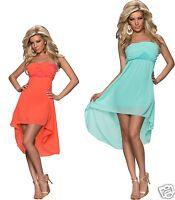 4111 Vestido Bandeau De Chifón Vokuhila-styl Vestido Disponible En 2 Colores -  - ebay.es