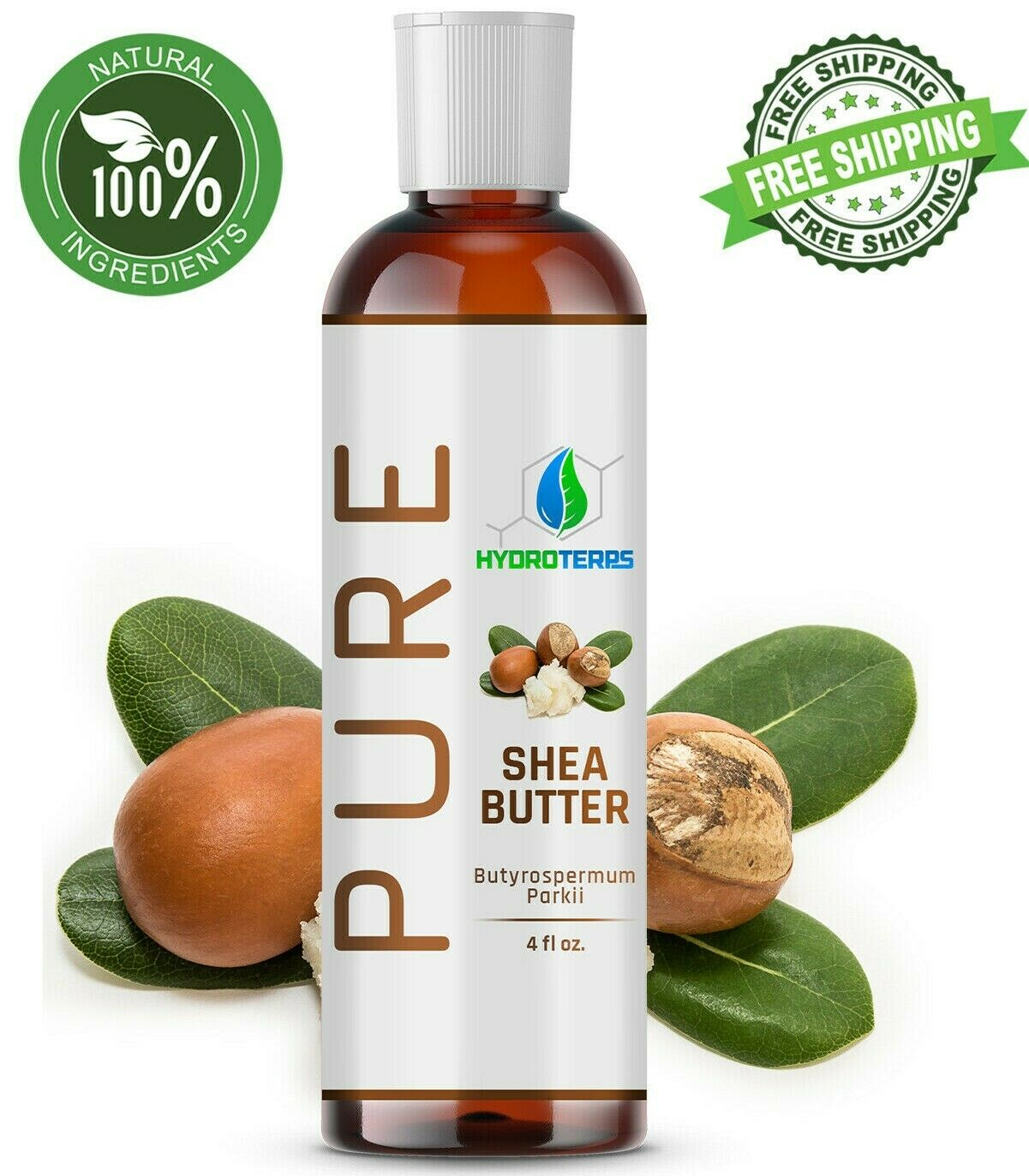 Raw African Shea Butter Oil 4 oz. 100% Pure Unrefined Organi