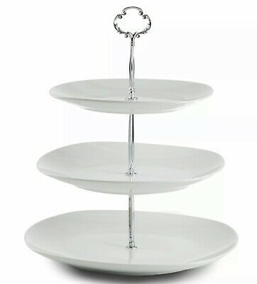 3 Tier Square Serving Dessert Cake Stand Platter For Parties Centerpiece NEW](Serving Platters For Parties)