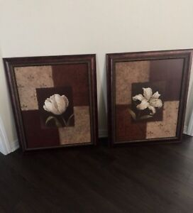 Two large canvases
