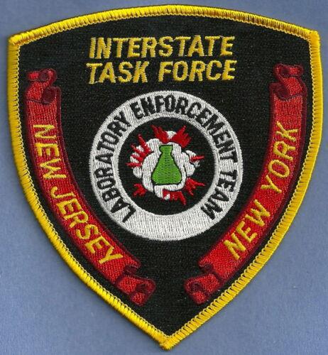 DEA NEW JERSEY INTERSTATE TASK FORCE ENFORCEMENT TEAM SHOULDER PATCH