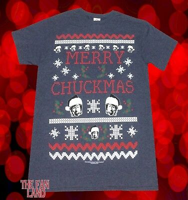 New Chuck Norris Merry Chuckmas Mens Christmas Vintage T Shirt