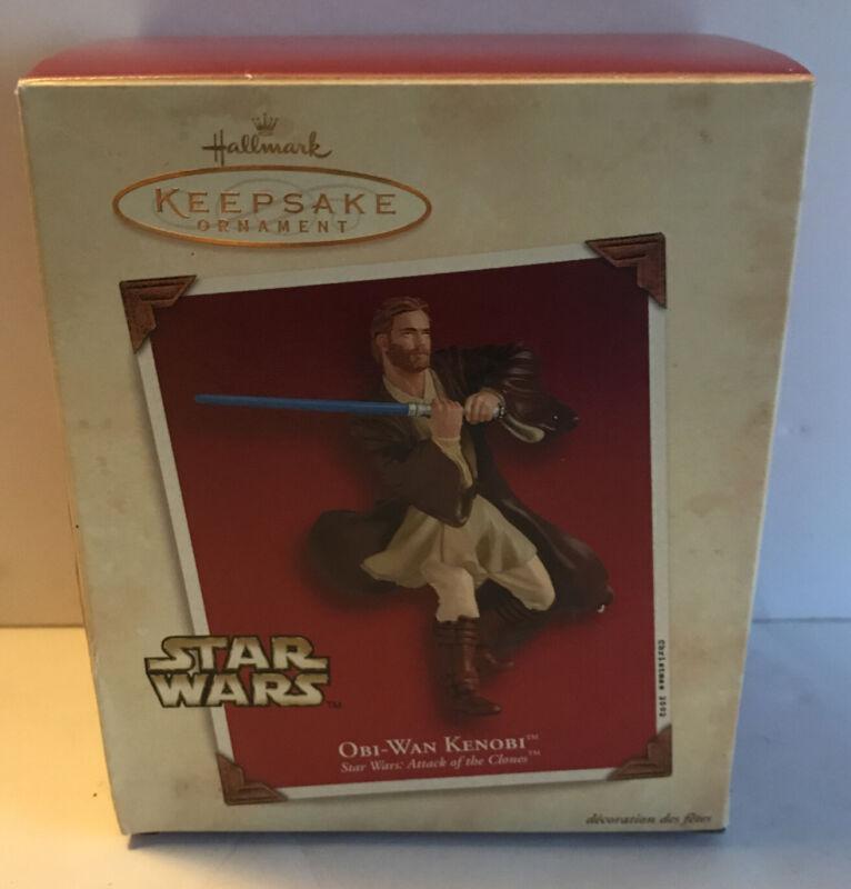 2002 Obi Wan Kenobi, QXI8216 Hallmark Ornament Star Wars Attack of the Clones