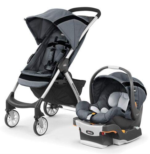 Chicco Mini Bravo Sport Baby Travel System Stroller w/ KeyFit Car Seat Carbon