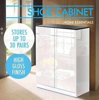 High Gloss 30 Pairs Shoe Cabinet Rack Storage Organiser New