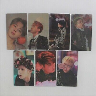 BTS Official  Wings Concept Book Lenticular Photocard All Member Full Set Sealed
