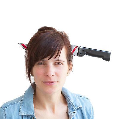 Messer im Kopf Haarreifen - Halloween Prank Grusel Horror Karneval Fasching Halloween Messer
