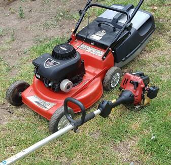 Both $135-Whipper snipper and 4stroke Mower--phone call only