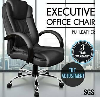 Executive Premium PU Faux Leather Office Computer Chair