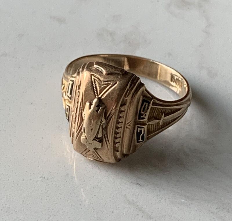 1947 10k Gold Josten Class Ring - Vintage 10k Gold 4.78 Grams Size 7.5