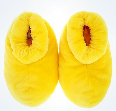 Mickey Mouse Feet Slippers Adult Size Large Yellow Disney World Theme Park NEW