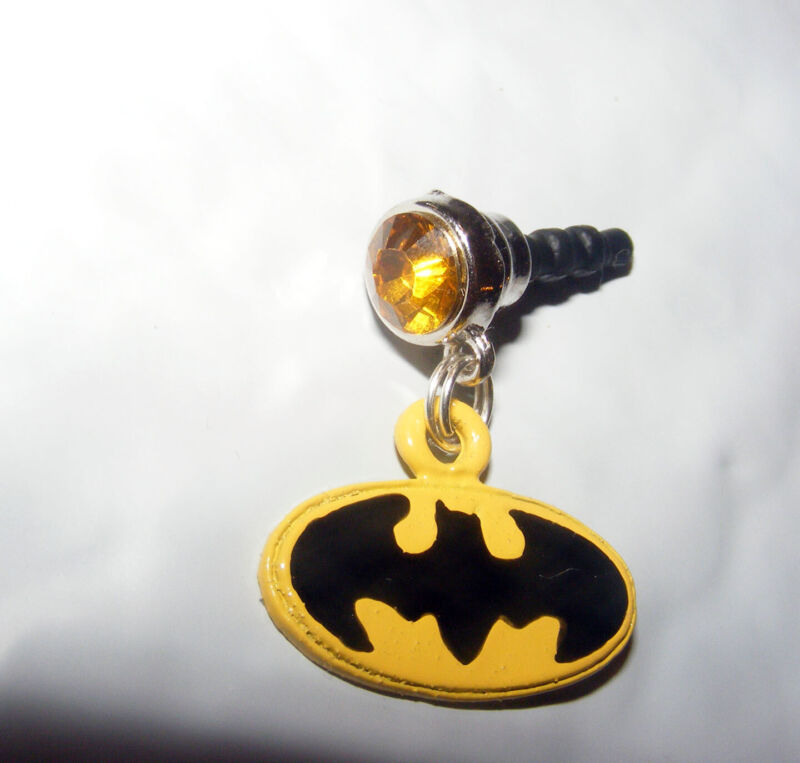 Batman Yellow Dainty Cell Phone Dust Plug