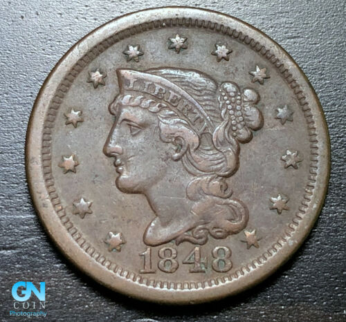 1848 Braided Hair Large Cent --  MAKE US AN OFFER!  #B3295