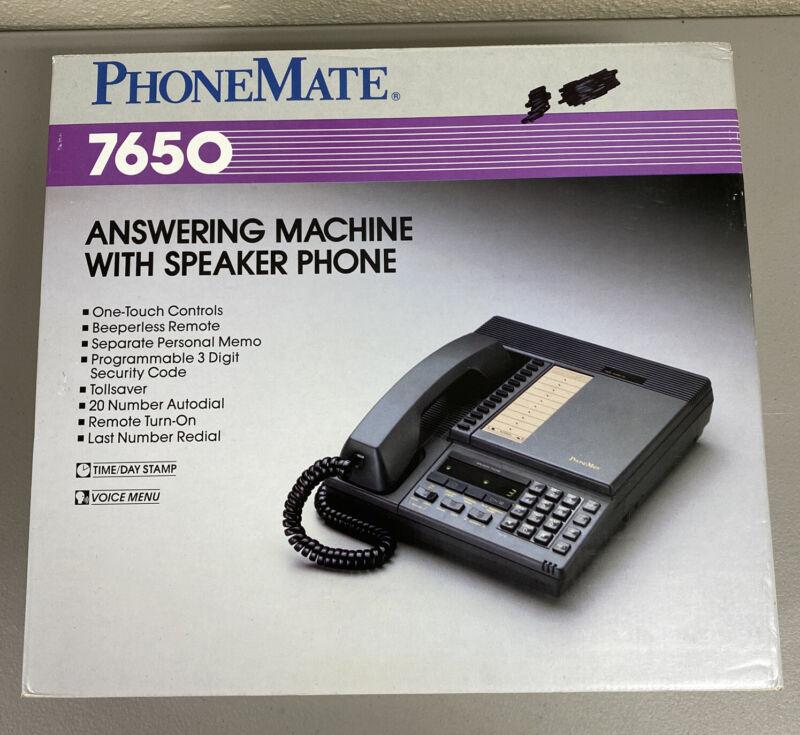 New Vintage PhoneMate 7650 Telephone Answering Machine NIB Excellent
