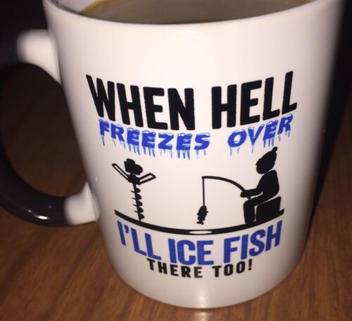 """Gearbubble Coffee Mug 12 oz. Fading hot/cold """"When Hell Free"""